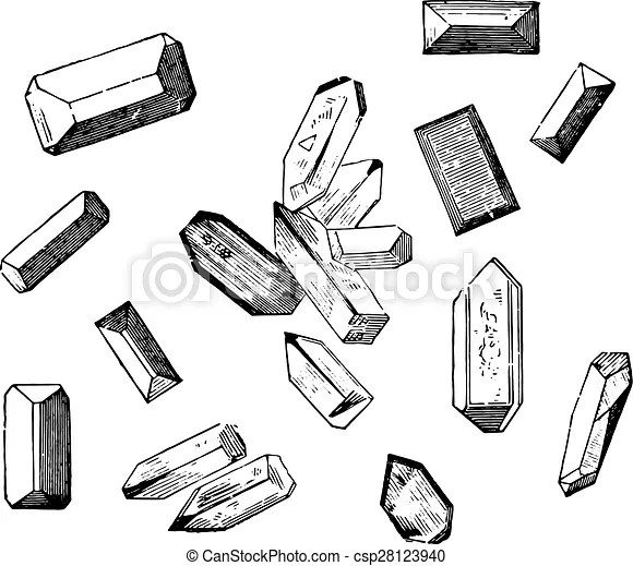 Forms of crystals of the magnesium ammonium phosphate