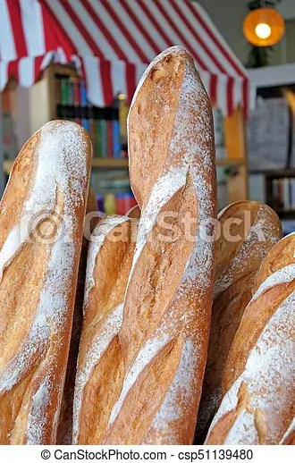 fresh loafs of french