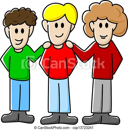 group of friends vector
