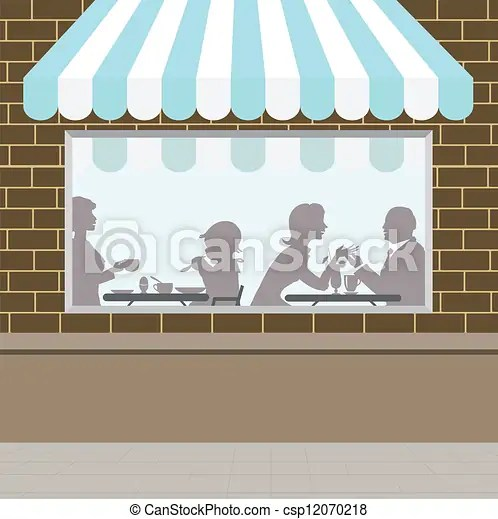 Front of coffee shop view vector clip art - Search Illustration, Drawings, and EPS Graphics Images - csp12070218