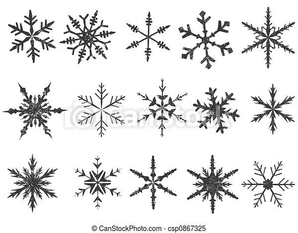 Frosted snowflake elements 1 of 4 (snowflakes are grouped