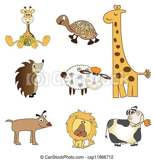 funny animals items set