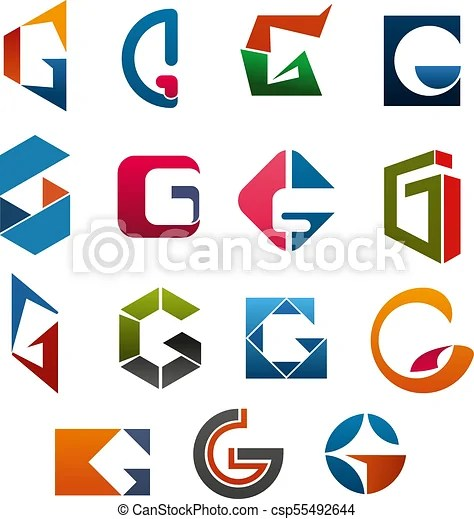 g letter vector icons