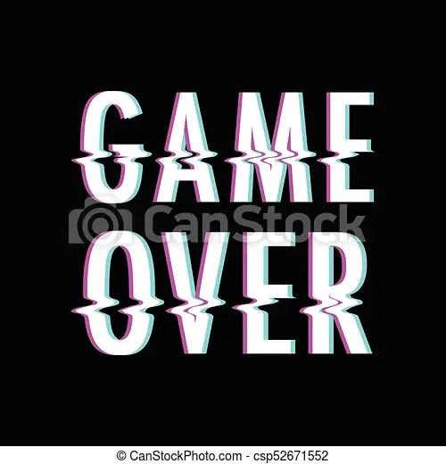 game over glitch