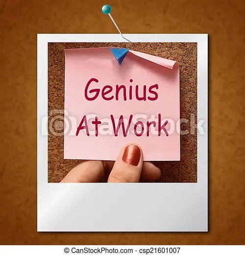 Genius at work note means do not disturb. Genius at work note meaning do not disturb.