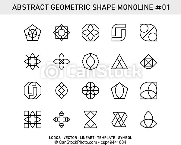 Geometric element set. Abstract element symbols emblem
