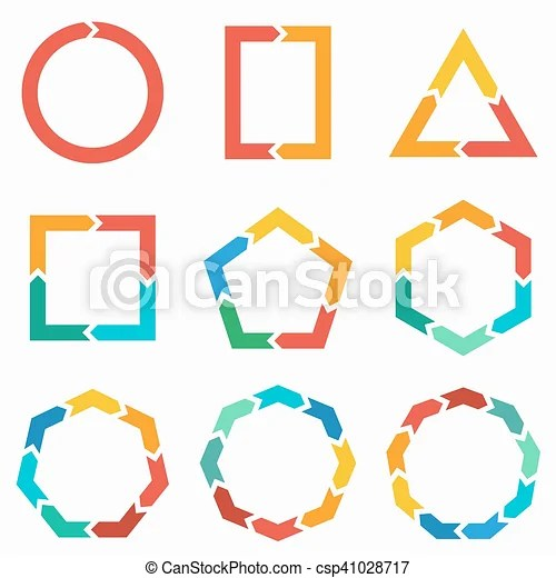 geometric shapes arrows for