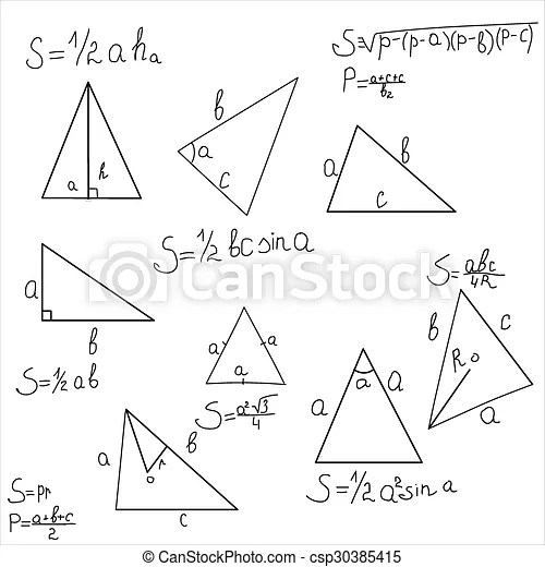 Geometry shapes of the triangle. vector illustration.