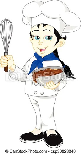 girl chef cartoon