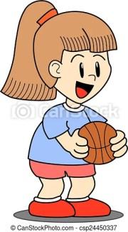 girl holding basketball ball