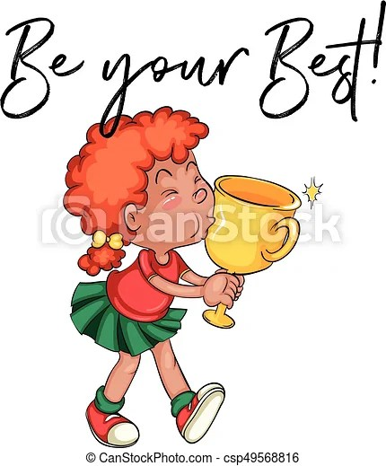 Your The Best Clip Art : Kissing, Trophy, Words, Illustration., CanStock