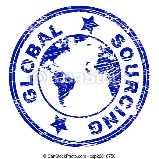 Global sourcing indicates worldwide world and globalise. Global sourcing representing worldwide supplied and supplies.