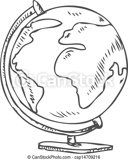 Globe doodle. Vector doodle of a world globe stand vector