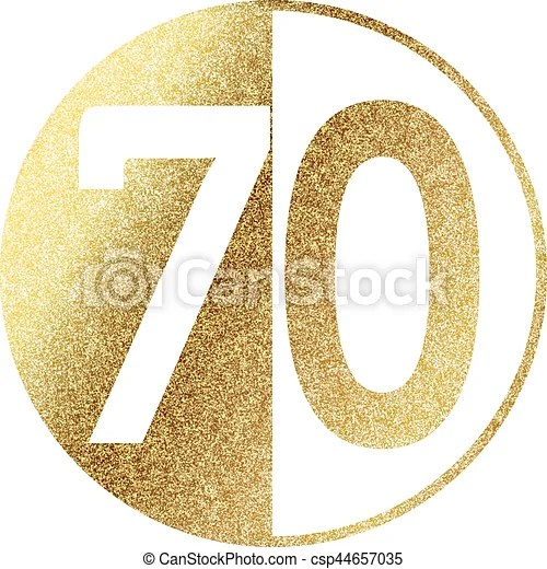 Download Golden-70-w.eps. Number 70.