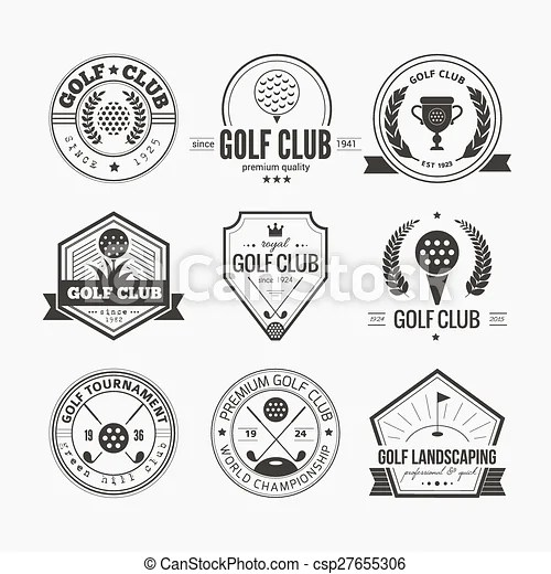 Golf club logo. Set of golf club logo templates. hipster