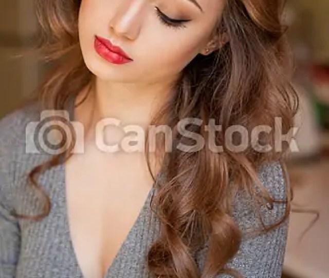 Gorgeous Brunette In Makeup Csp46314915
