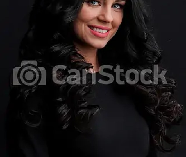 Gorgeous Brunette With Curly Hair Csp51523171