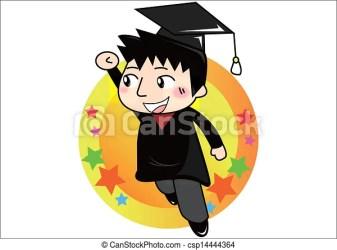 cartoon student graduate vector clipart clip tassel class congratulations grades college cap drawing valedictorian royalty students gograph honor graduating illustration