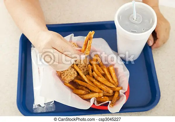 Greasy french fries. A plate of greasy fast food, climb into bed, Drawings and Vector EPS Graphics Images