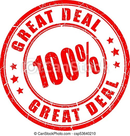 Great deal rubber stamp. Great deal rubber vector stamp.