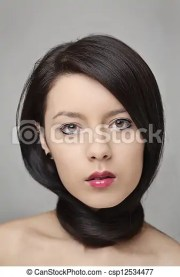 great hair. pretty woman with long