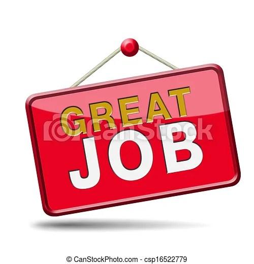 great job sign congratulations