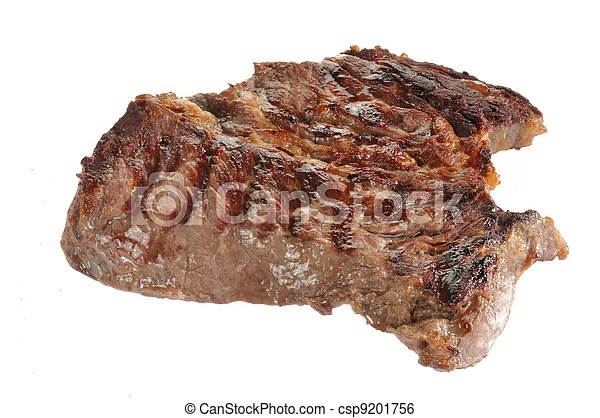 Grilled chuck roast on white. A grilled chcuk roast on a white background.