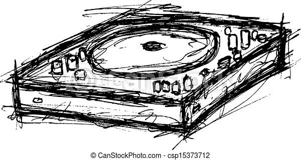 Grunge turntable.