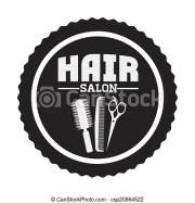 hair salon design over white background