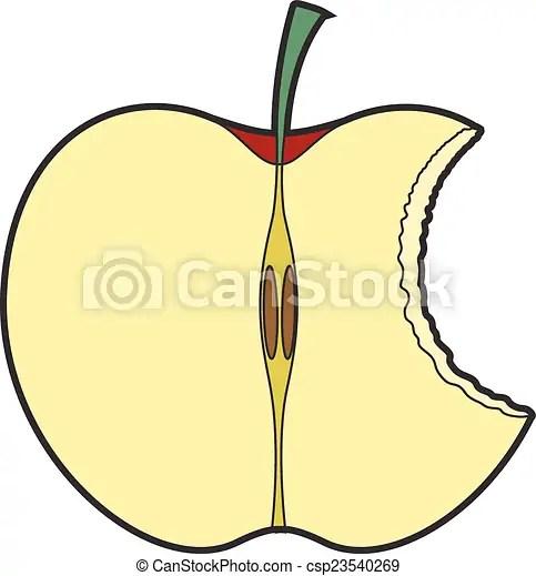 eaten apple. abstract retro