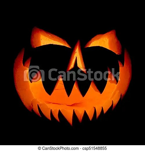Tons of awesome dark purple halloween wallpapers to download for free. Halloween Pumpkin Face Ghost Glowing In The Dark Decoration Illuminates And Emerges From The Darkness Canstock