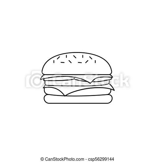 Hamburger icon, outline style. Hamburger icon. outline