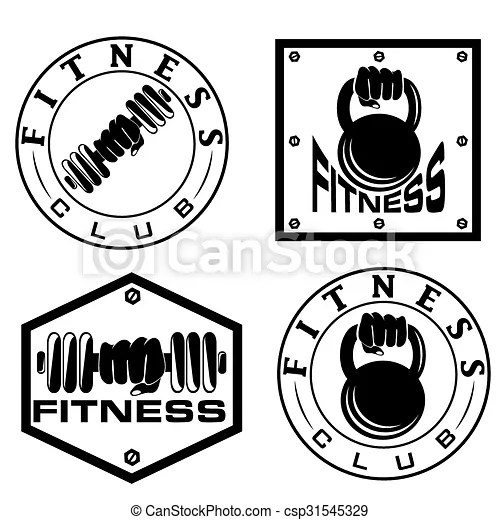 Vector Illustration of hand holding barbell and kettlebell
