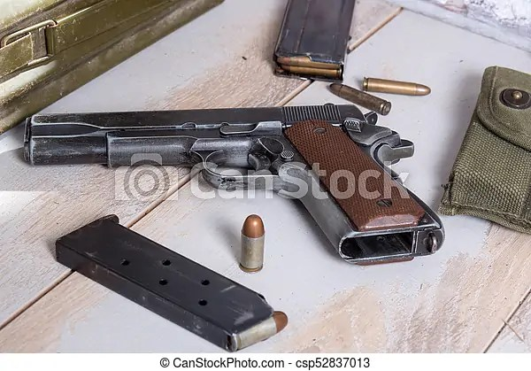handgun m1911 government with