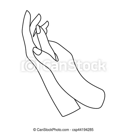 Hands moisturizing icon in outline style isolated on white