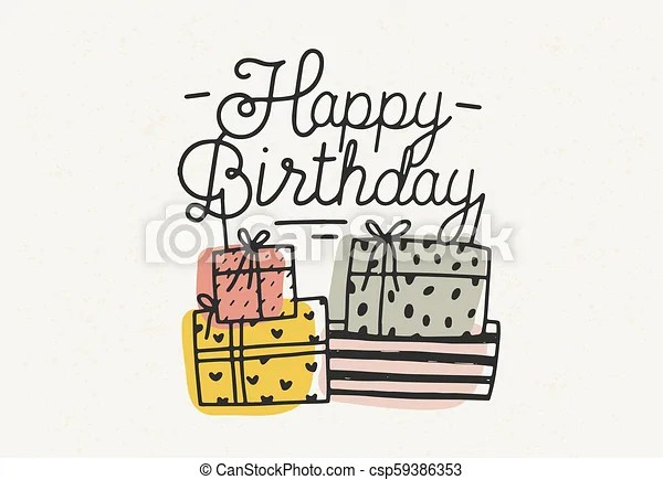 happy birthday lettering or
