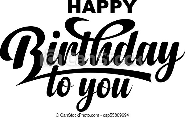 Happy Birthday To You Calligraphic Text Happy Birthday To You Calligraphic Text On Red Background