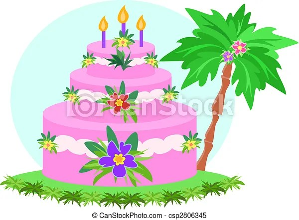 Happy Birthday Tropical Cake Here Is A Colorful Three