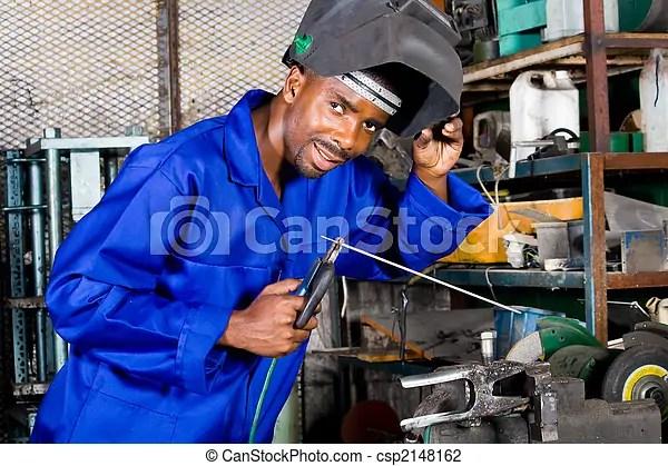 happy factory worker