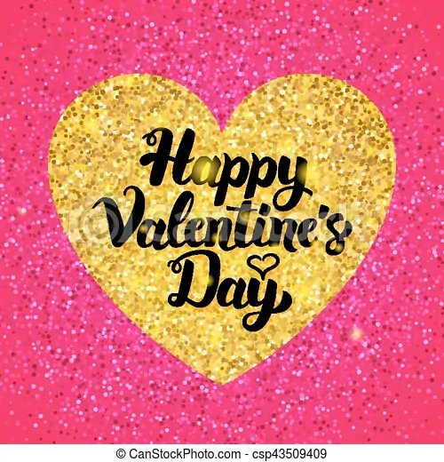 happy valentines day glitter