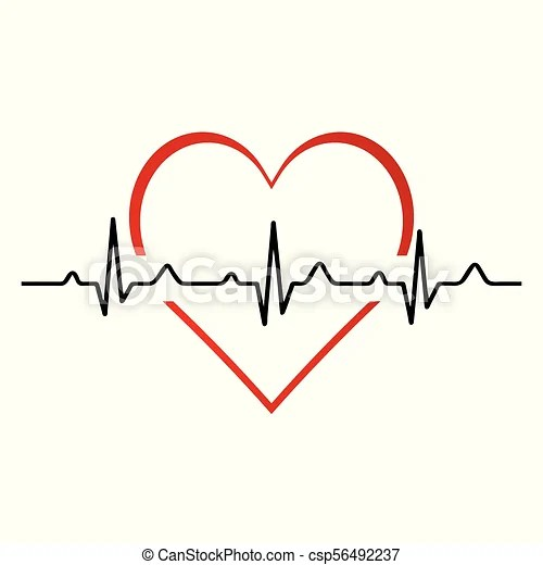 Heartbeat / heart beat pulse flat icon for medical