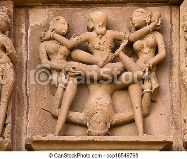 Hindu Erotic Temple In Khajuraho India Csp