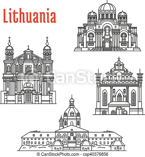 Historic landmarks and sightseeings of lithuania. Historic