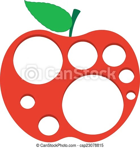 Download Holes in apple. Abstract fresh red apple with lots of ...