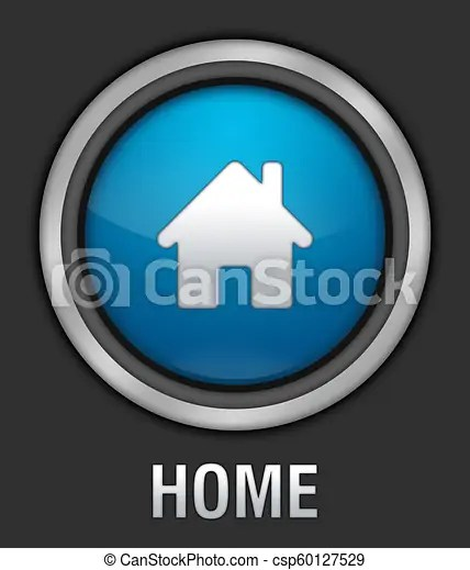 Blue Home Icon : Icon., Illustration, Button., CanStock