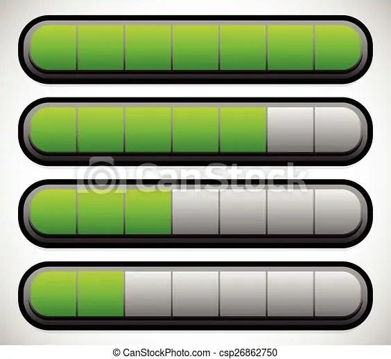 level bars clipart vector