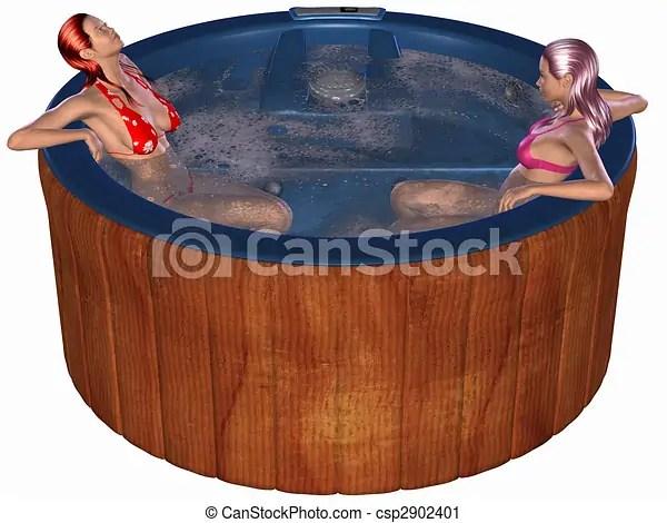 3d render of an hot tub.
