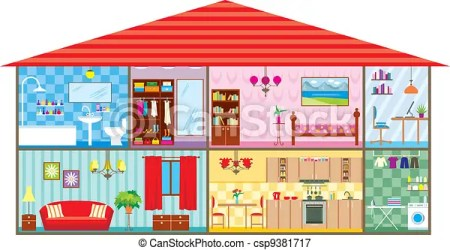 House Vector illustration color full CanStock