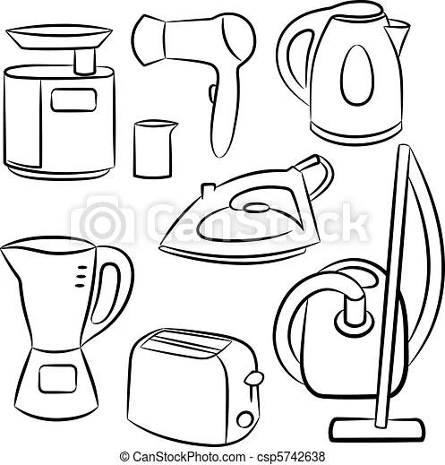 Household appliances. vector illustration.