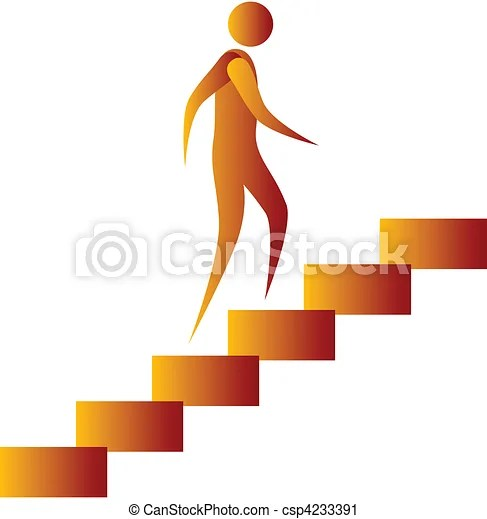 human climbing the stairs
